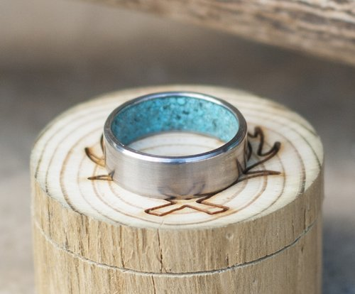 MENS TURQUOISE RINGS STAGHEAD DESIGNS