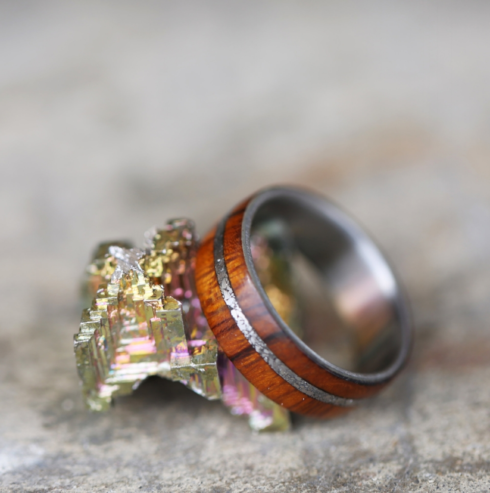 REMMY IN IRONWOOD WITH OFFSET BISMUTH CRYSTAL INLAY available in