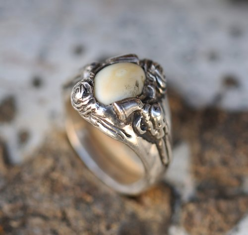 HAND-CARVED ELK TOOTH RINGS — Staghead Designs | Design Custom ...