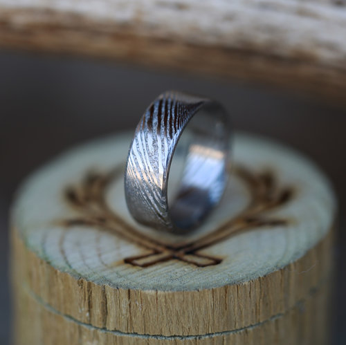 forged jewelry steel handmade mens womens band wedding stainless pin rings ring hand bg male rough