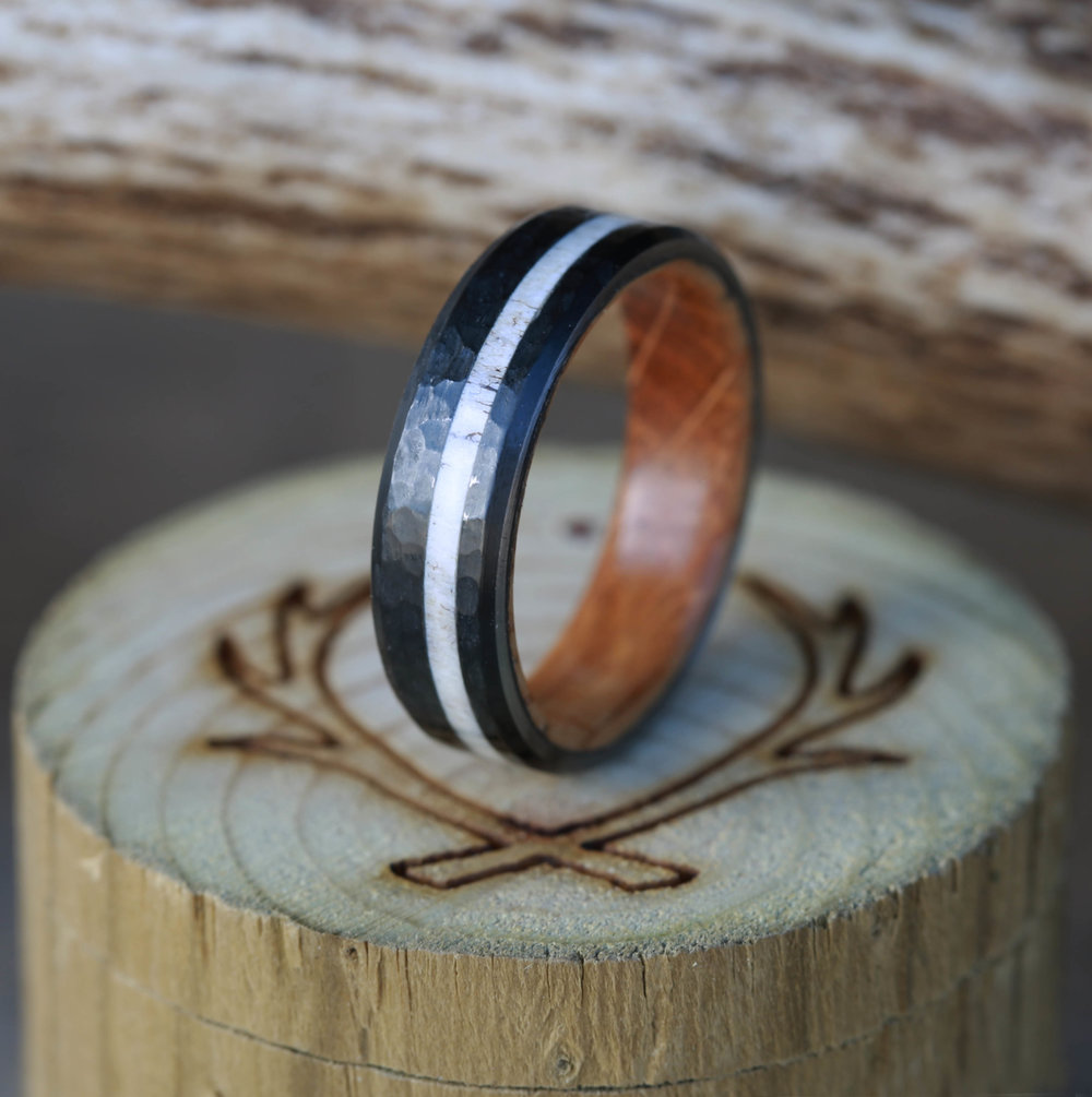 a with oak products stripe from ring northernroyal rings bentwood made wedding wood copper