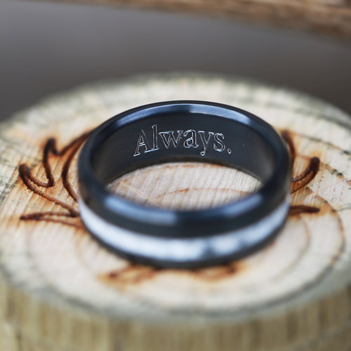 custom ring engraving staghead designs design custom wedding