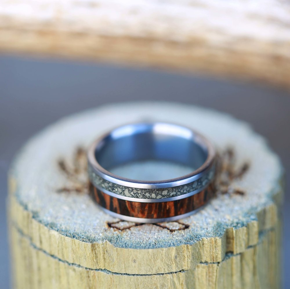 WOOD & ANTLER RINGS — Staghead Designs | Design Custom Wedding Bands ...