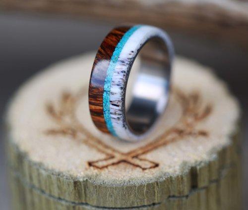 a71d7d2031bc WOOD & ANTLER RINGS — Staghead Designs | Design Custom Wedding Bands ...