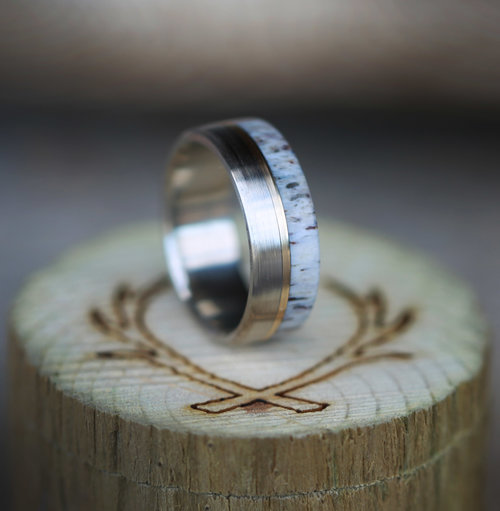 faa4b0ce476 WOOD   ANTLER RINGS — Staghead Designs