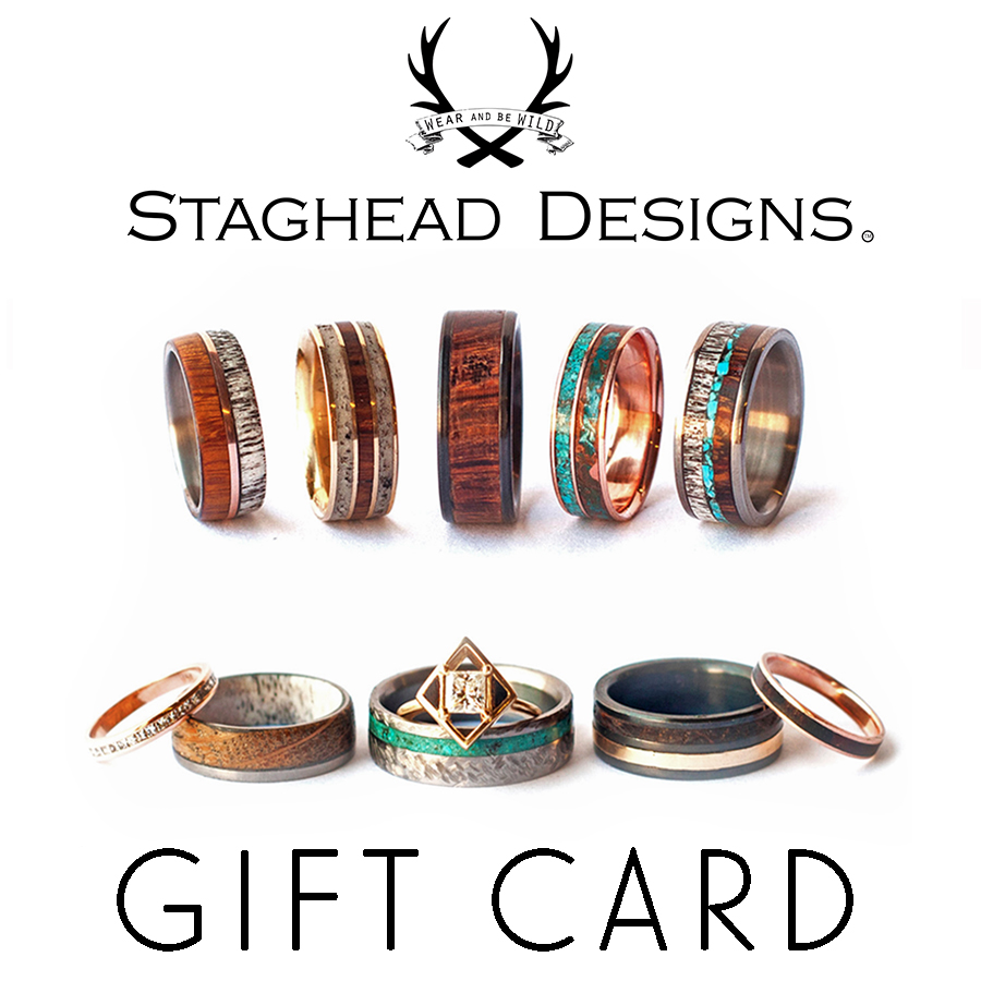 Staghead Designs Design Custom Wedding Bands Wood Antler