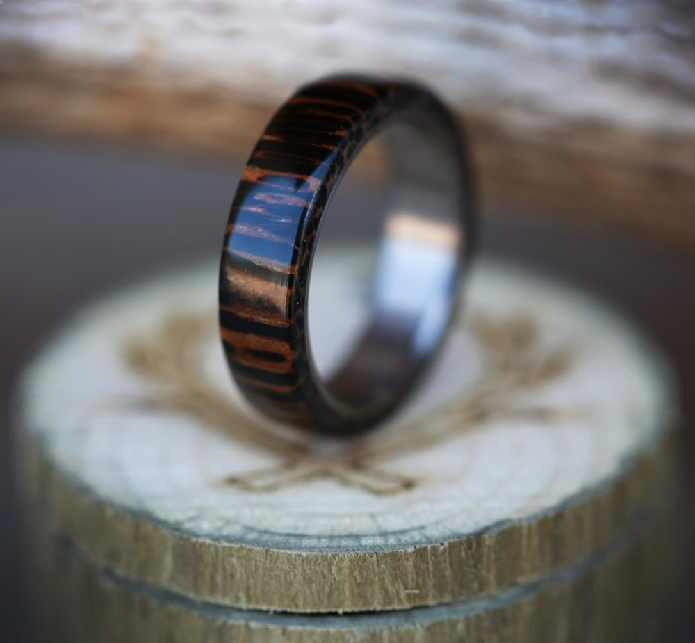 Coconut Wood Amp Titanium Wedding Band Available In