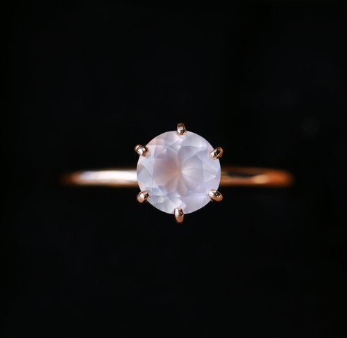 ring handmade com rose halo dp rings wedding gold quartz promise pink engagement unique amazon