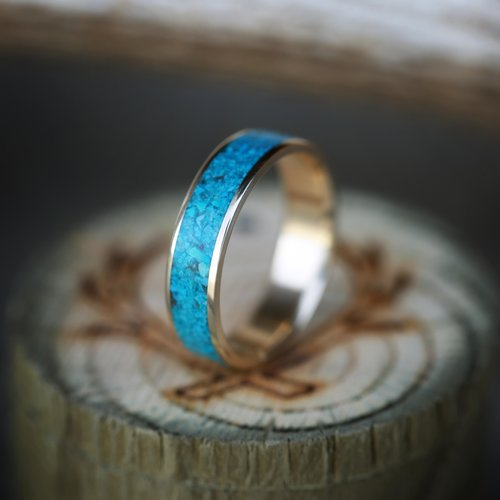 Rainier Men S Or Women S Turquoise Wedding Band Available In