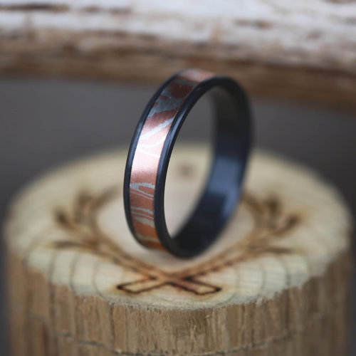 vace rings wedding mokume gane ring
