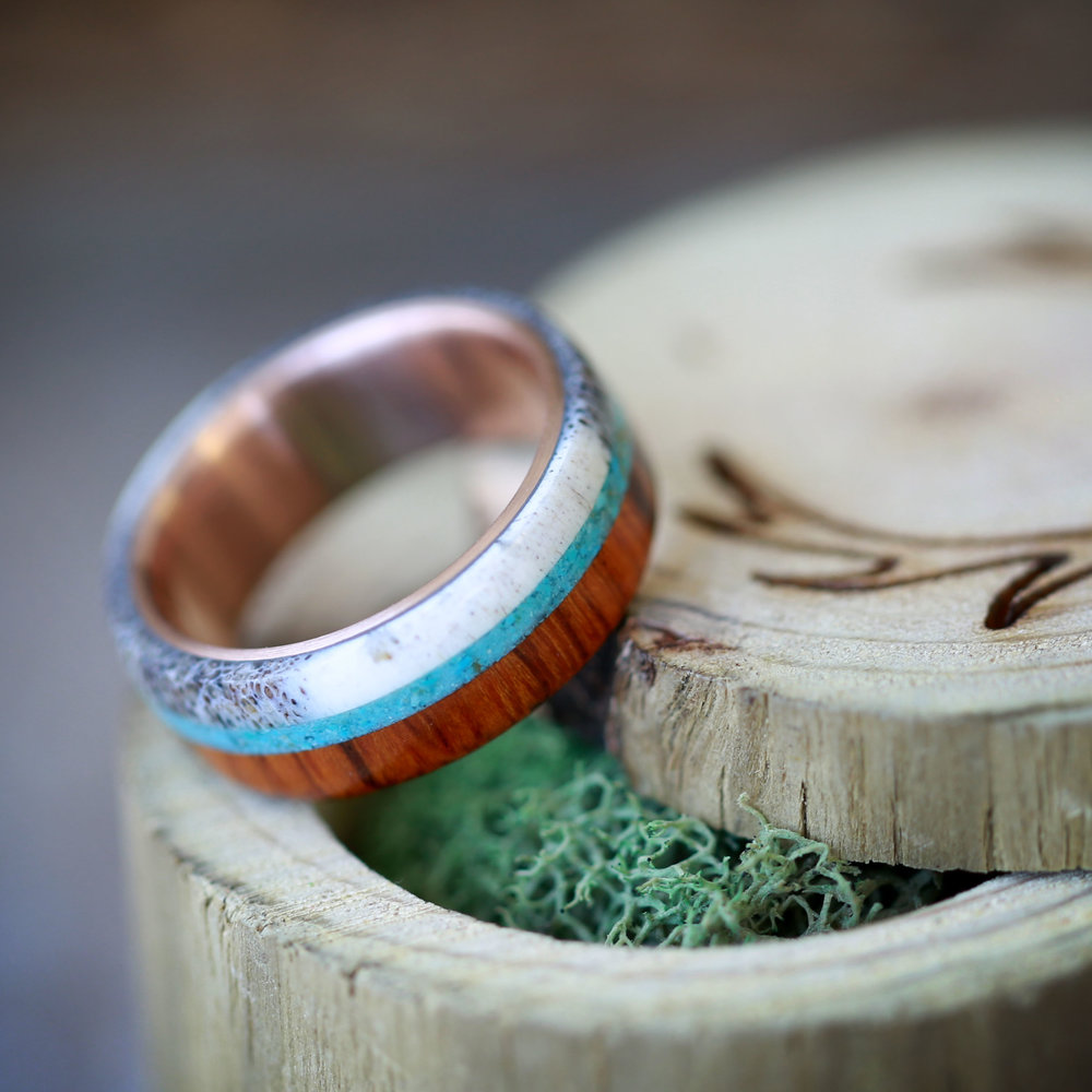 WOOD ANTLER RINGS Staghead Designs Design Custom Wedding Bands