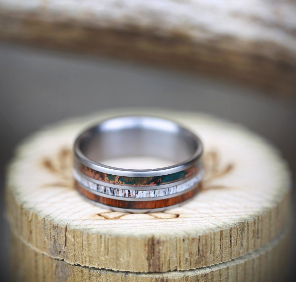 PATINA COPPER RINGS Staghead Designs Design Custom Wedding Bands