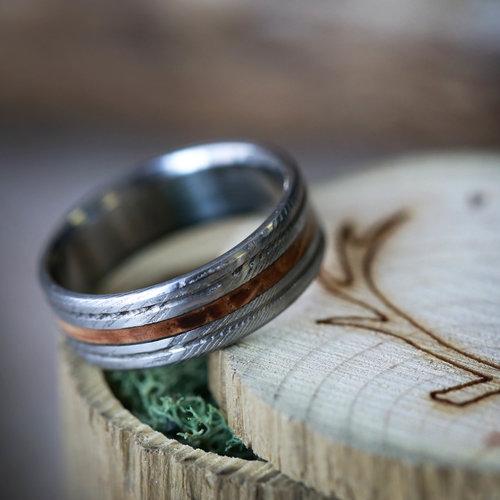 Damascus Steel Rings Staghead Designs Design Custom Wedding