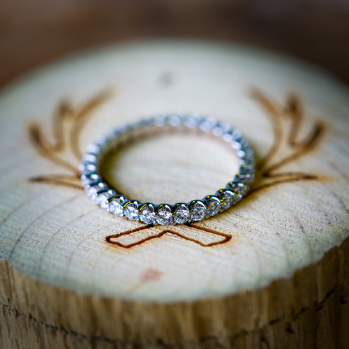 Infinity Diamond Wedding Band Available In 14k White Rose Or