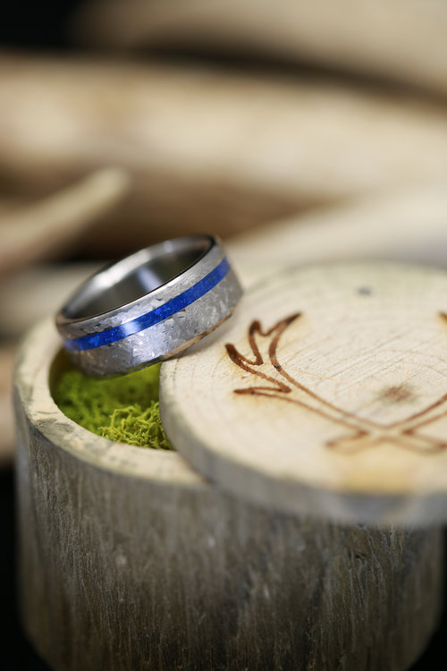 Stone Inlay Rings Staghead Designs Design Custom Wedding Bands