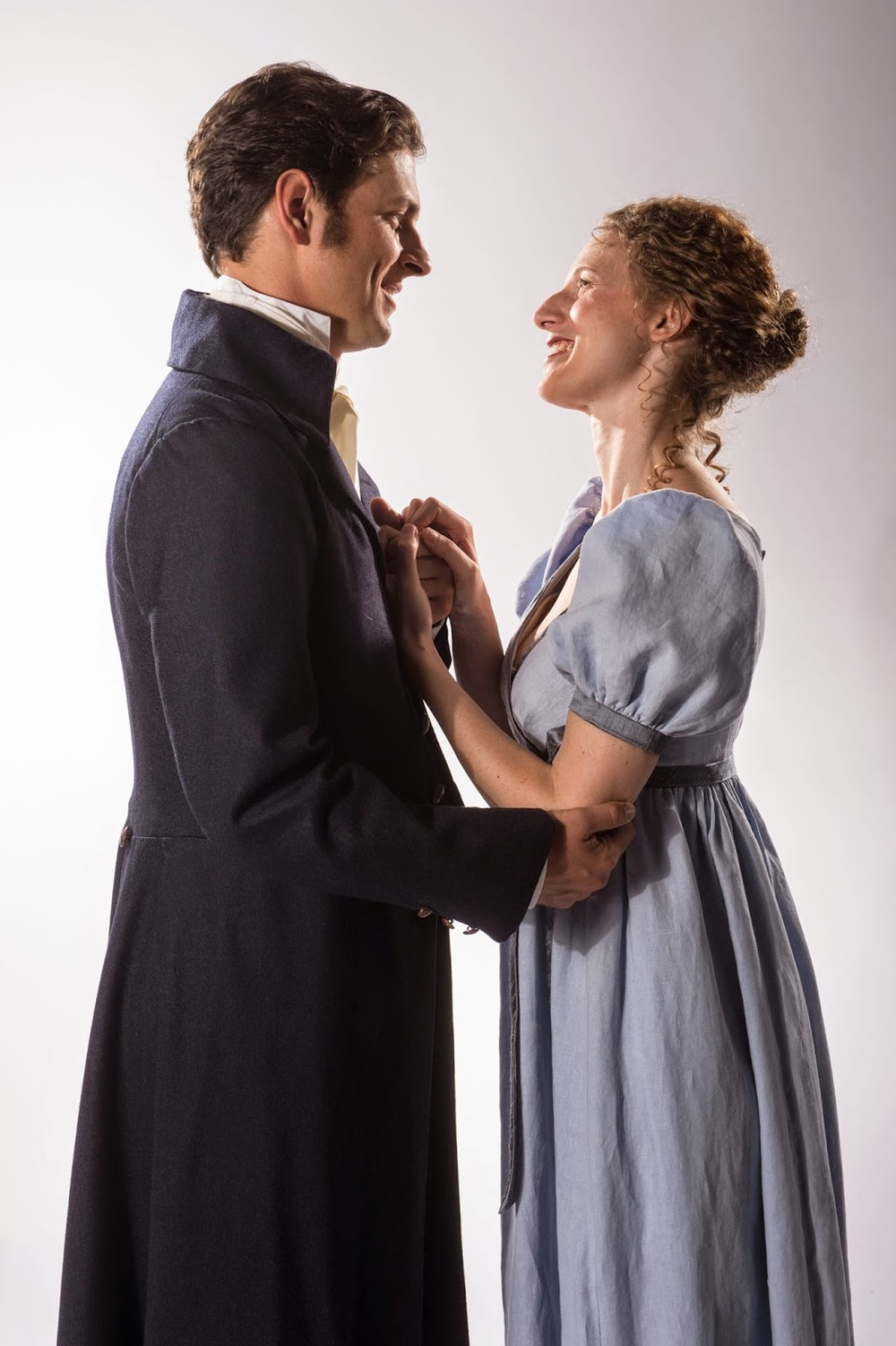 Mattfeld as Edward Ferrars, Bissell as Elinor Dashwood. Photo by Karl Hugh