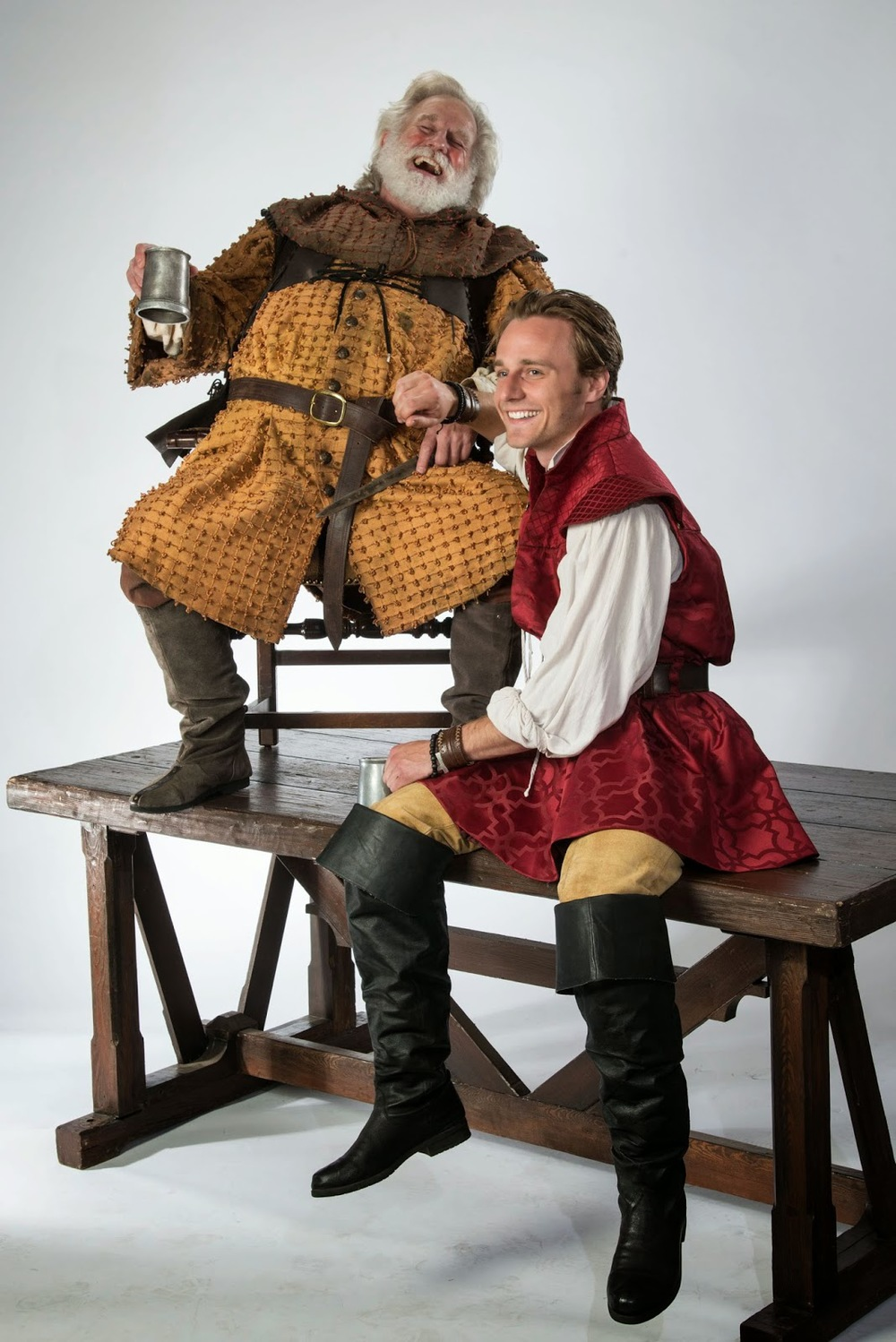 Woronicz as Falstaff, Ashdown as Prince Hal