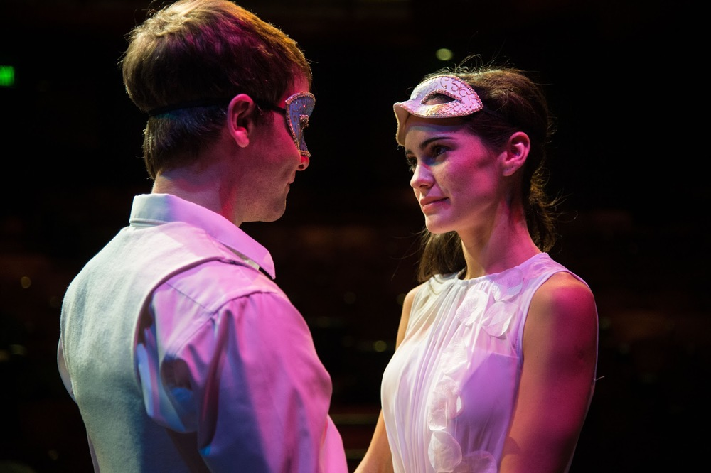 Chris Klopatek (left) as Romeo and Melisa Pereyra as Juliet in  Romeo and Juliet.