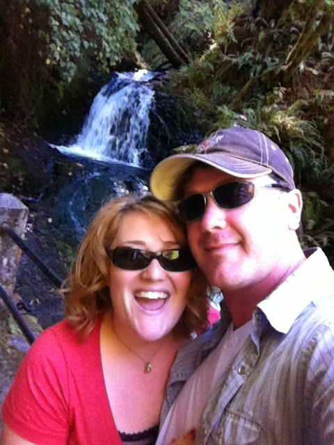 Hiking in Oregon with my husband (Chuck McLane USF season 2011)