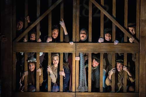 A scene from Les Misérables, 2013.