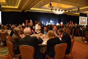 Guests enjoy dinner at the 2015 Salt Lake City Fundraising Gala.