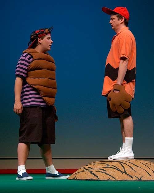 Eric J. Stein (left) as Linus and Chris Mixon as Charlie Brown in  You're a Good Man, Charlie Brown,  2001.