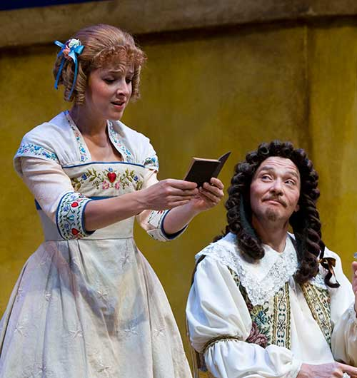 Betsy Mugavero (left) as Agnès and Timothy Casto as Arnolphe in  The School for Wives,  2008.