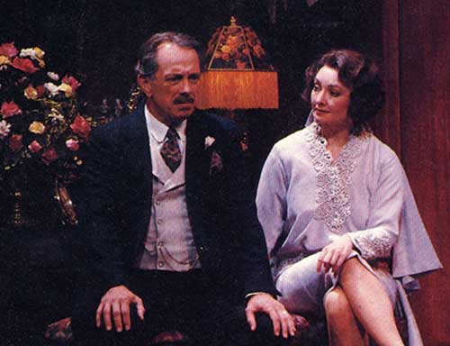 Wiliam Leach (left) as Herbert Dean and Michelle Farr as Julie Cavendish in The Royal Family, 1993.