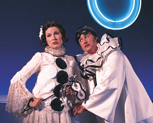 Victoria Adams (left) as Polly Browne and Steven Fales as Tony in  The Boy Friend,  1997.