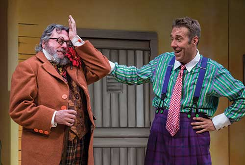 Roderick Peeples (left) as Argante and David Ivers as Scapin in  Scapin,  2012.