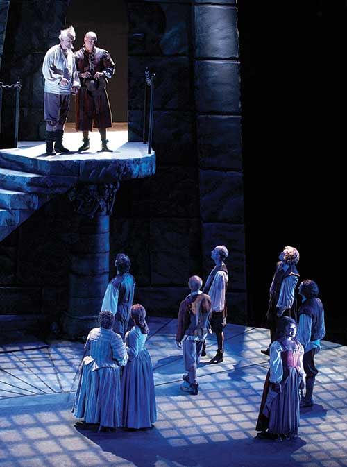 A scene from Man of La Mancha, 2002.
