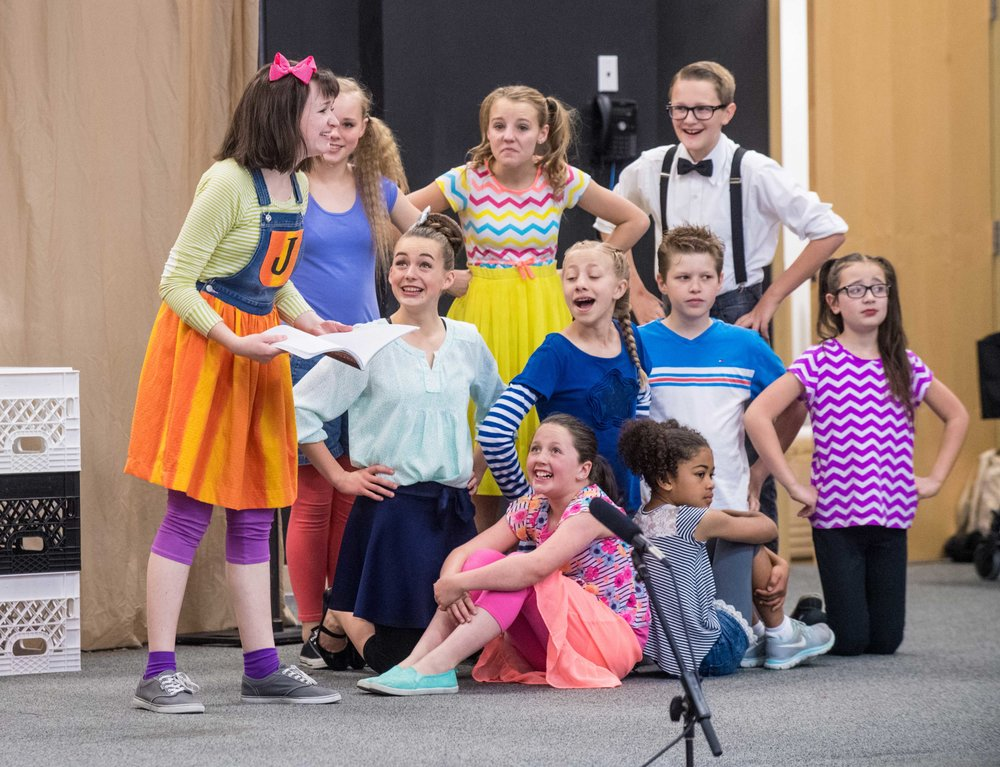 A scene from the 2016 Playmakers production of Junie B. Jones.