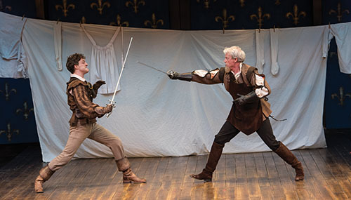 Luigi Sottile (left) and Ben Livingston in The Three Musketeers, 2016.