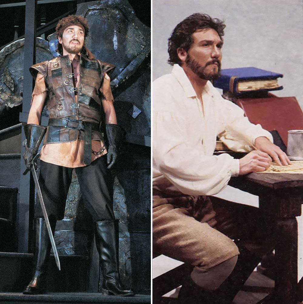 Patrick Page at the Festival: In the title role in  Macbeth  (left) as as Ben Jonson in  Nothing Like the Sun,  both in 1989.