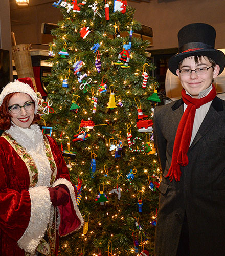 Kaitlin Margaret Mills (left) and Lincoln Paul at Christmas at the Homestead, 2016.