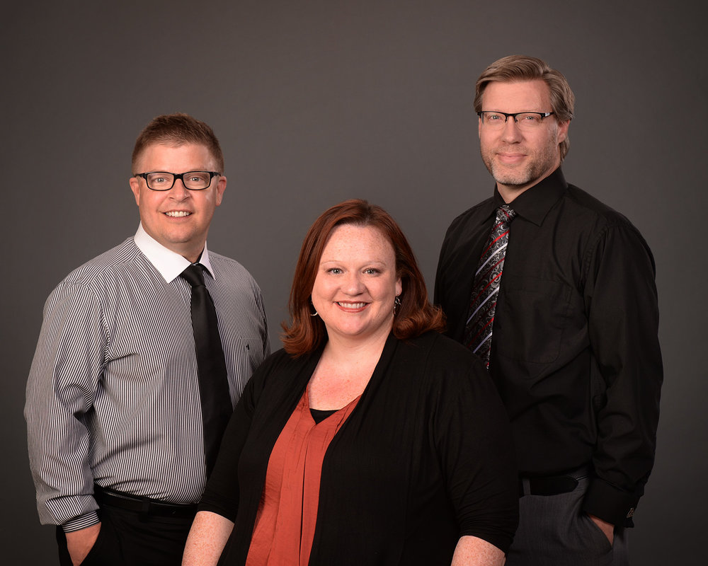 Donn Jersey, development director; Kami Paul, general manager; and Tyler Morgan, marketing and communications director.