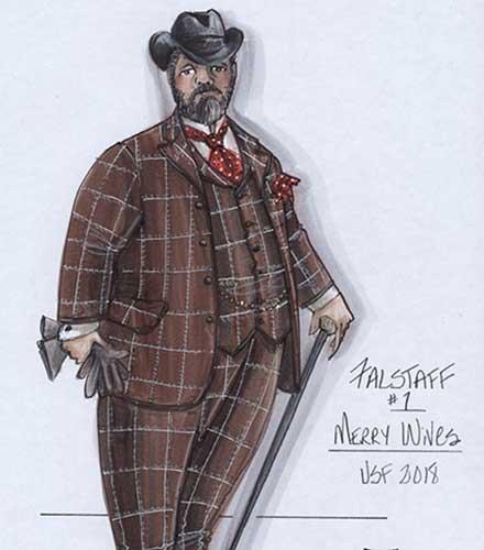 Falstaff costume design by Bill Black