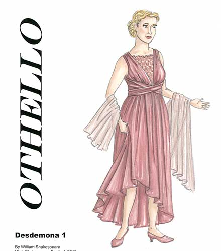Desdemona costume design by Kyle Schollinger