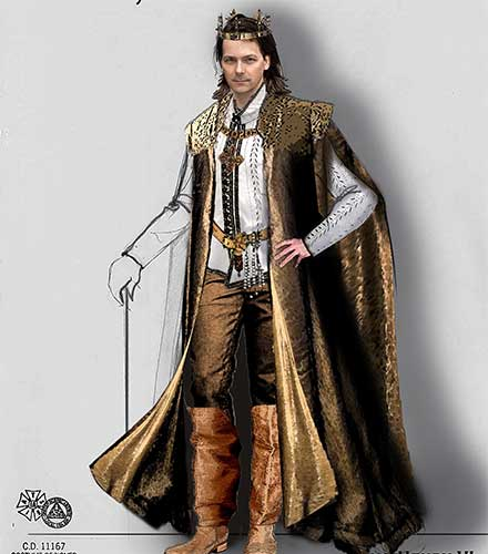 King Henry VI costume design by Lauren T. Roark