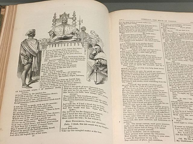 """Before we say, """"Goodbye,"""" enjoy some snapshots of the volumes of Shakespeare's Othello on display in Othello in Black and White. Come see them with your own eyes at @suma_museum until October 13! #freakyfriday #sumasuu #utahshakes"""