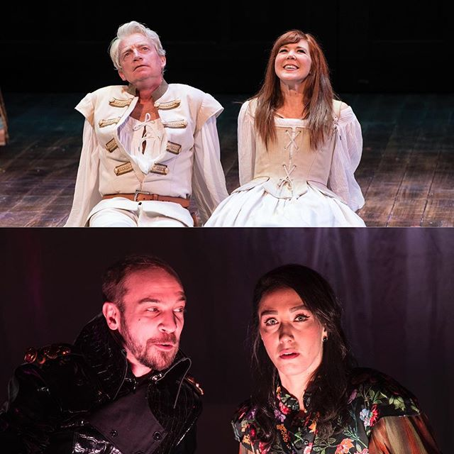 It's the last week of our Bard's Best March Madness tournament! Last week, our two power couples, Macbeth & Lady Macbeth and Benedick & Beatrice, all won their respective matches. Who will continue on to the Final Four? Follow along on Facebook, Twitter, and Instagram Stories to vote!  Top: Ben Livingston (left) as Benedick and Kim Martin-Cotten as Beatrice in the Utah Shakespeare Festival's 2016 production of Much Ado about Nothing. (Photo by Karl Hugh. Copyright Utah Shakespeare Festival 2016.)  Bottom: Tim Sailer (left) as Macbeth and Stefanie Resnick as Lady Macbeth in the Utah Shakespeare Festival's 2019 Shakespeare-in-the-Schools production of Macbeth. (Photo by Karl Hugh. Copyright Utah Shakespeare Festival 2019.)