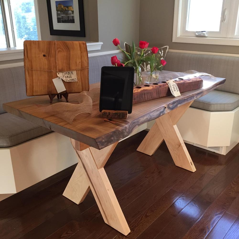 Cucumber Magnolia live-edge dining table