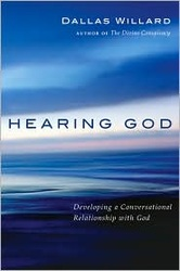 "HEARING GOD, by Dallas Willard. He thoroughly tackles the subject of ""hearing the Voice of our Father."""