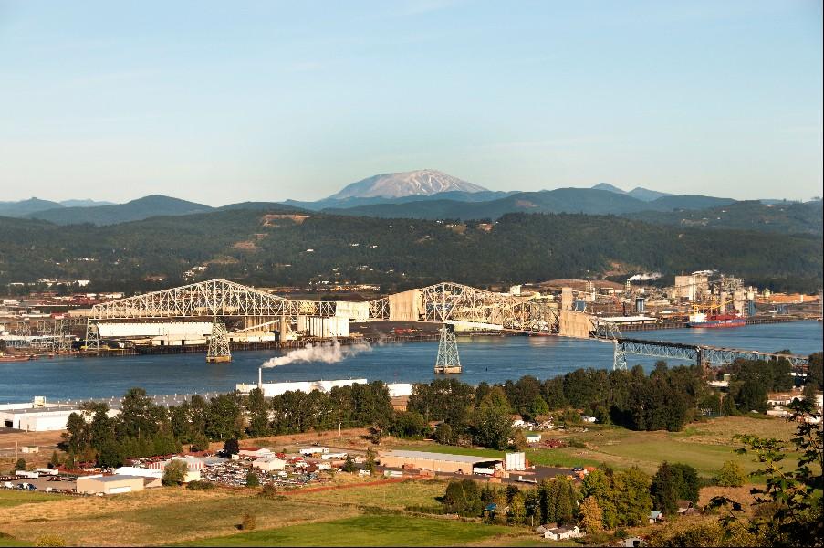 Beautiful Longview, Washington is 48 miles north of Portland.