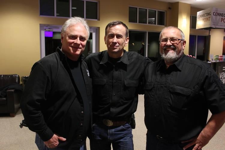 Our team: Jimmy Meeks, Col. Grossman, and Carl Chinn.