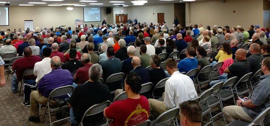 Over 300 people attended the Columbus, Ohio Sheepdog Seminar (click to enlarge)