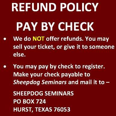 We do NOT offer refunds. If you cannot attend, you may sell your ticket(s) or transfer them to someone else. Thank you.