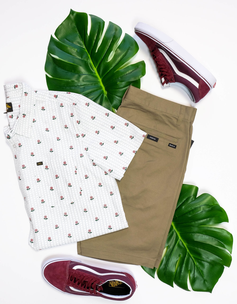 Pictured: Dark Seas Button-Up RVCA Shorts Old Skool Vans Make sure you come visit us and pick up these vacation essential goodies in store! Call if you have any questions or want us to ship! xo Payton   Hours-Mon-Sat: 10-8--Sun: 11-6 Phone 541-617-6113