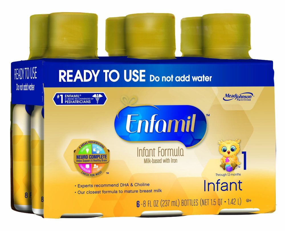 An example of 8 fl.oz. ready to use bottles - perfect for your 6+ months old!