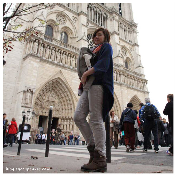 In front of Notre Dame de Paris.